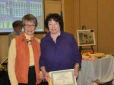 Nancy Hardam and Pat Boyd, President